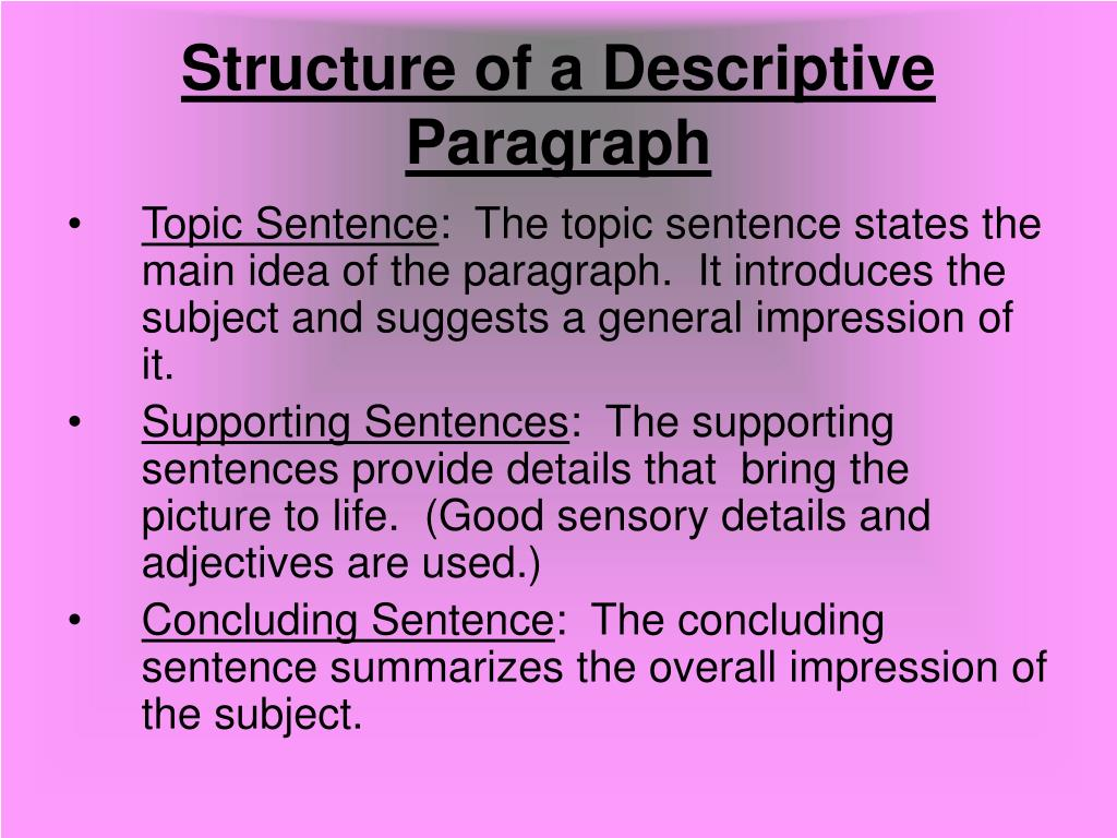 descriptive essays structure What is a descriptive essay a descriptive essay is an essay whose purpose using a graphic organizer to map out the structure of the descriptive essay.