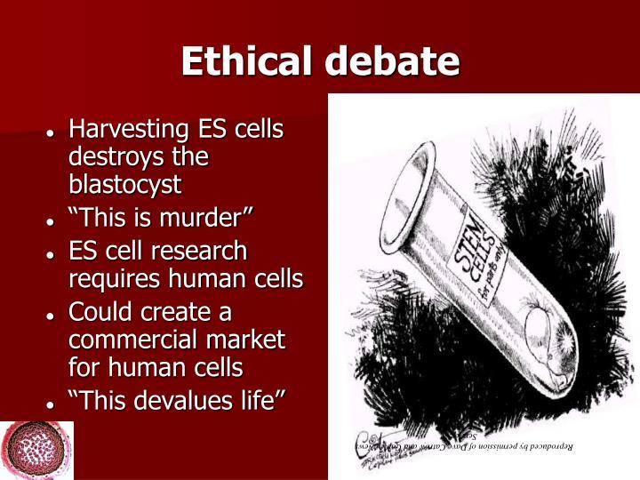 Ethical debate