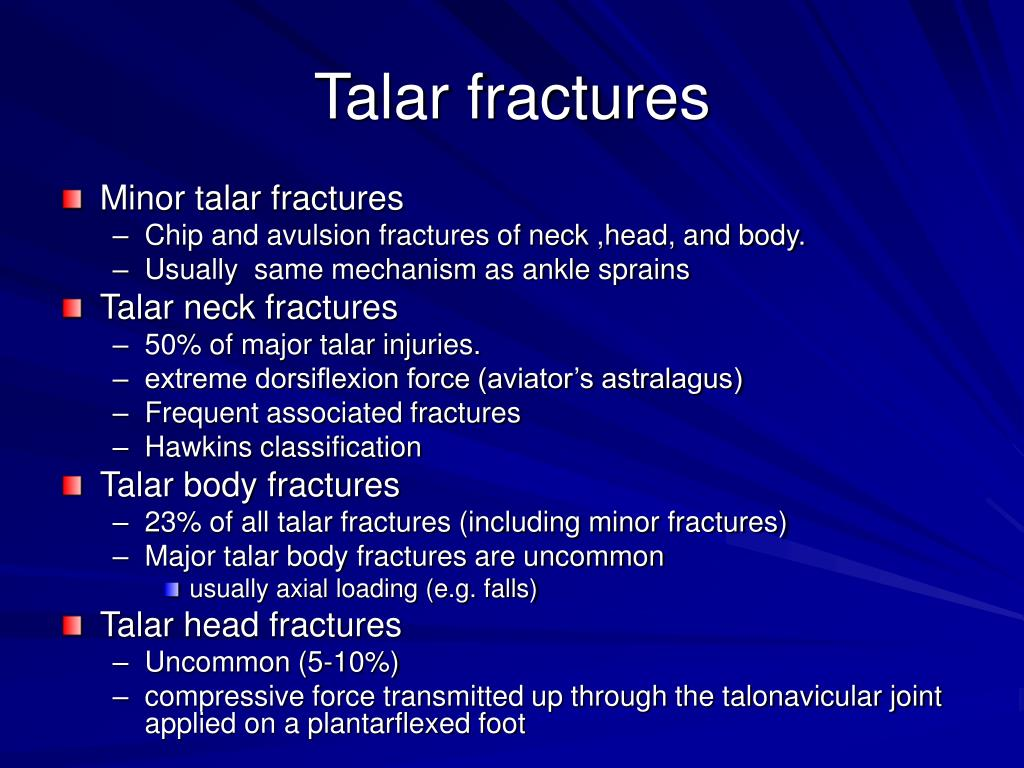 Talar fractures