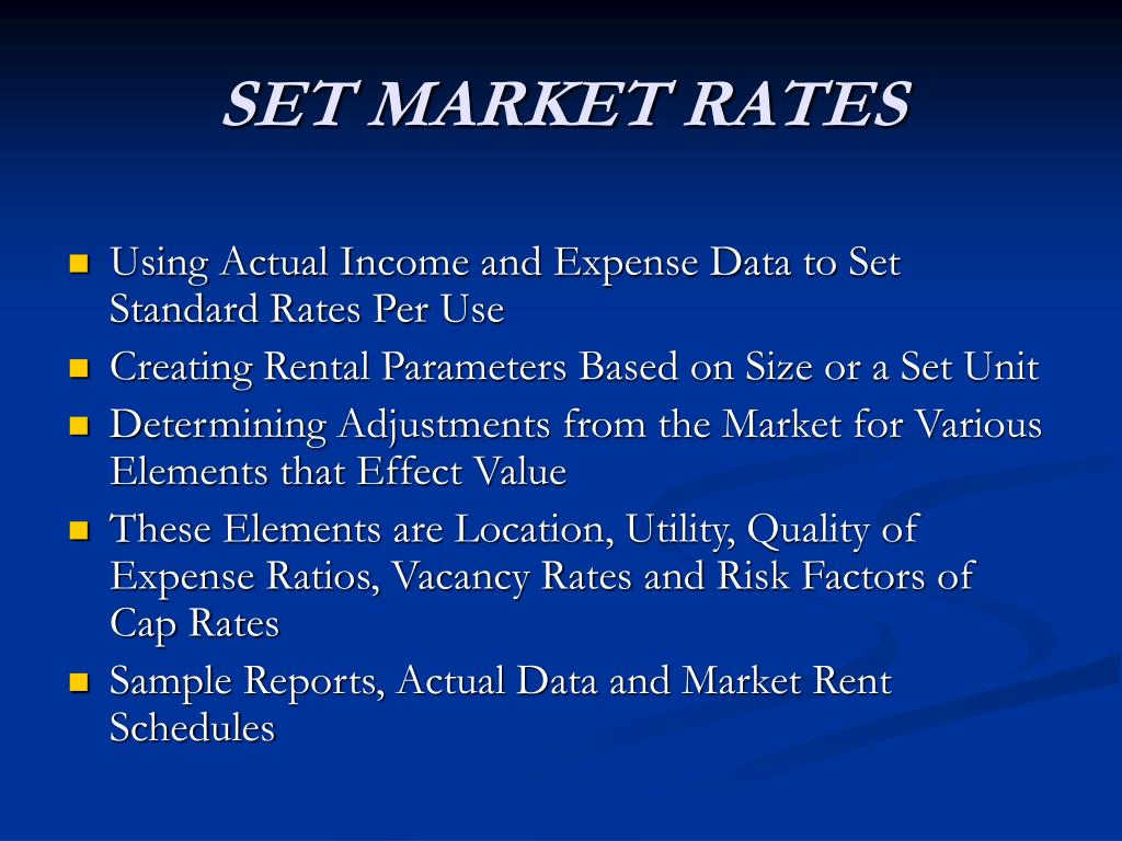 SET MARKET RATES