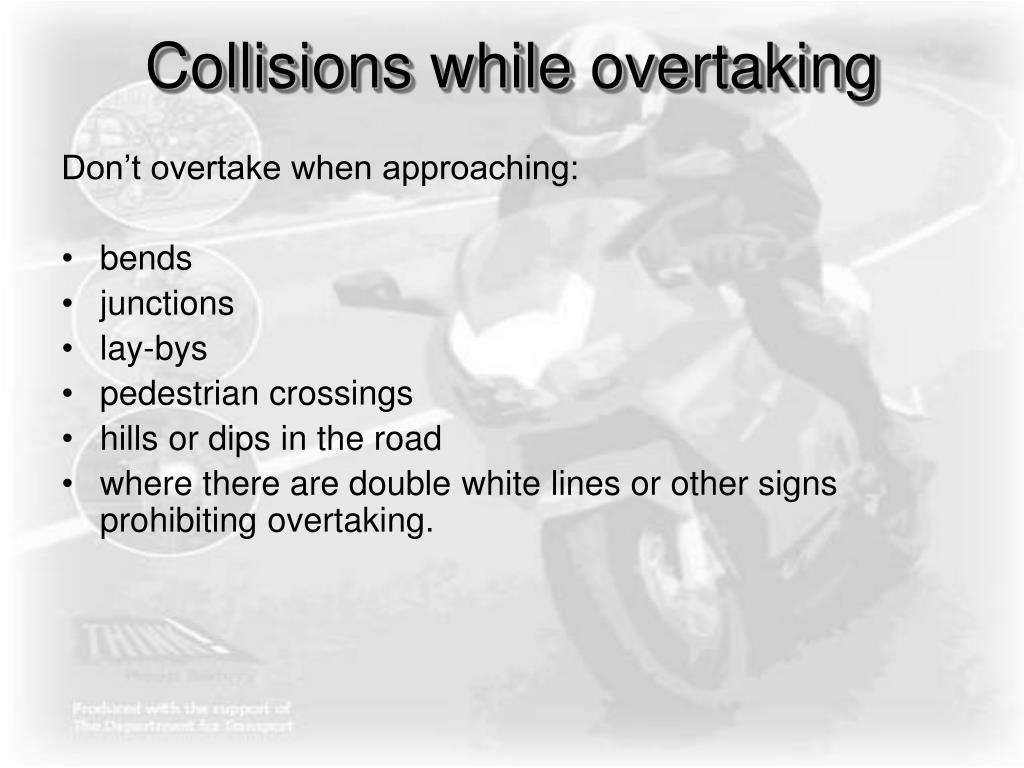 Collisions while overtaking