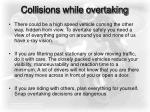 collisions while overtaking11
