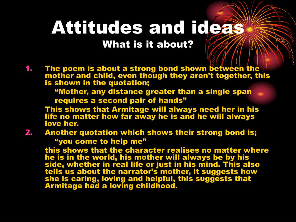 Attitudes and ideas