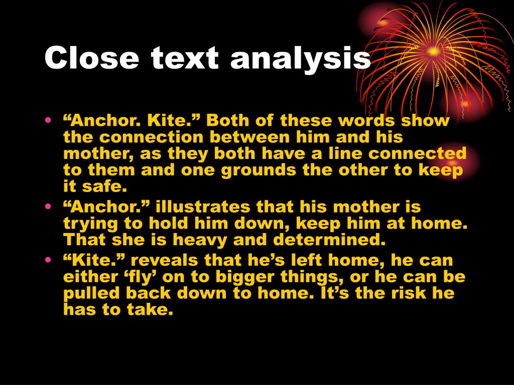 Close text analysis
