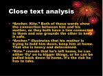 close text analysis