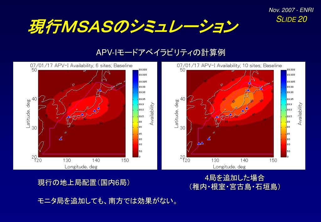 現行MSASのシミュレーション