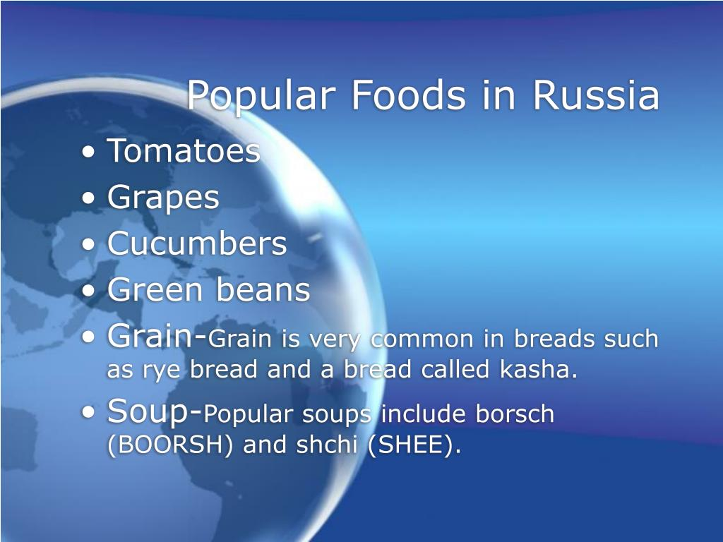 Popular Foods in Russia