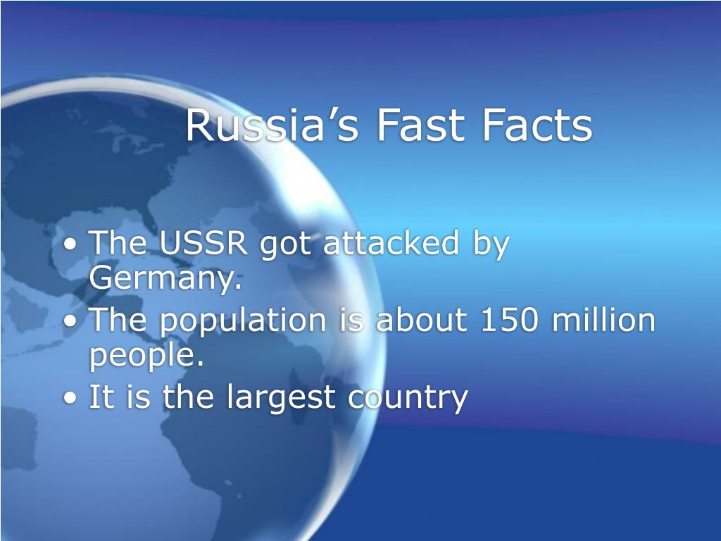Russia's Fast Facts