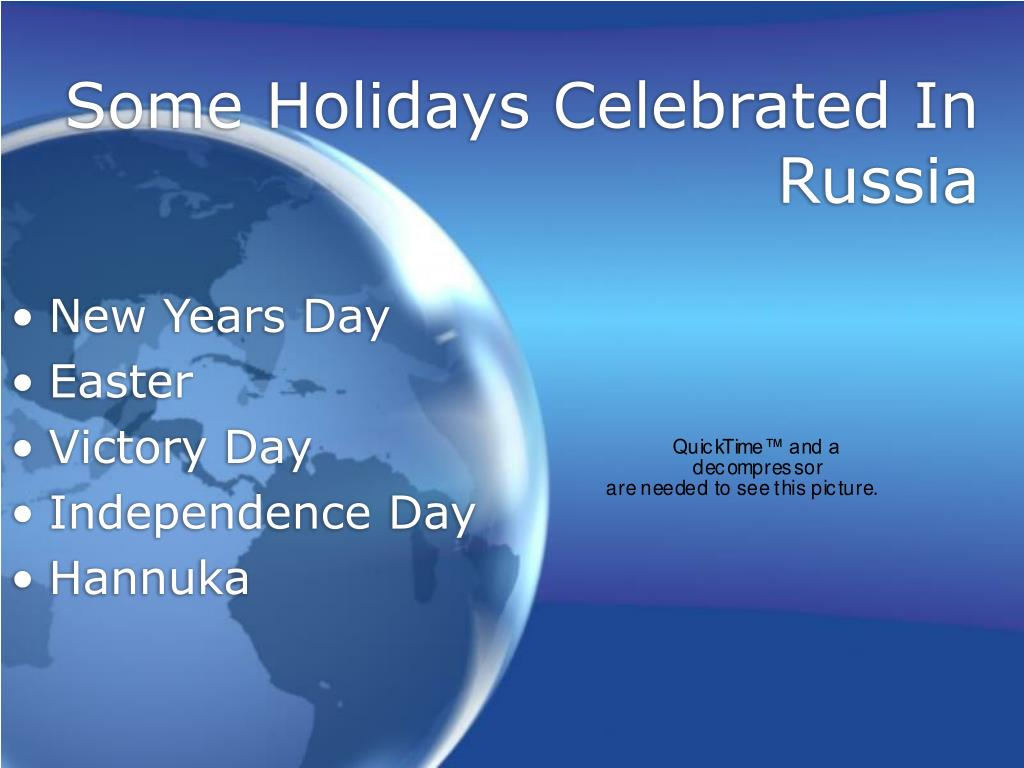 Some Holidays Celebrated In Russia