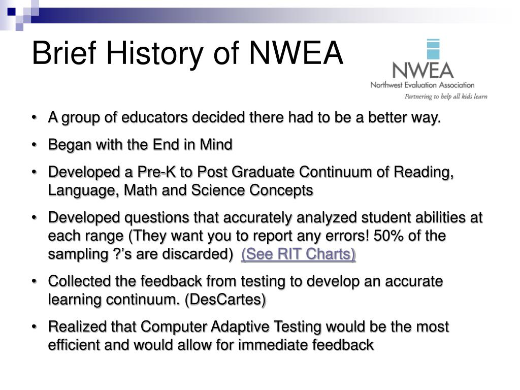 Brief History of NWEA