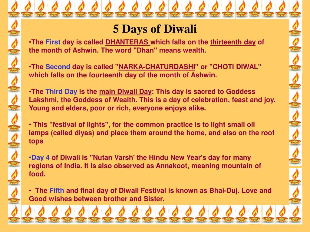 5 Days of Diwali