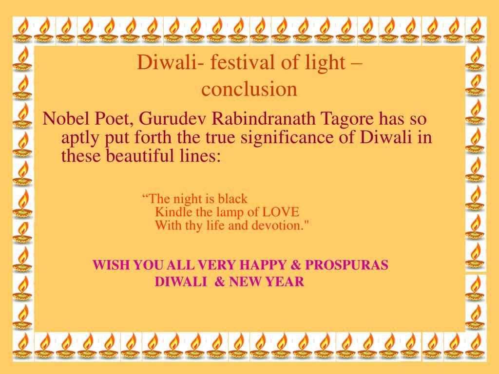 Diwali- festival of light –