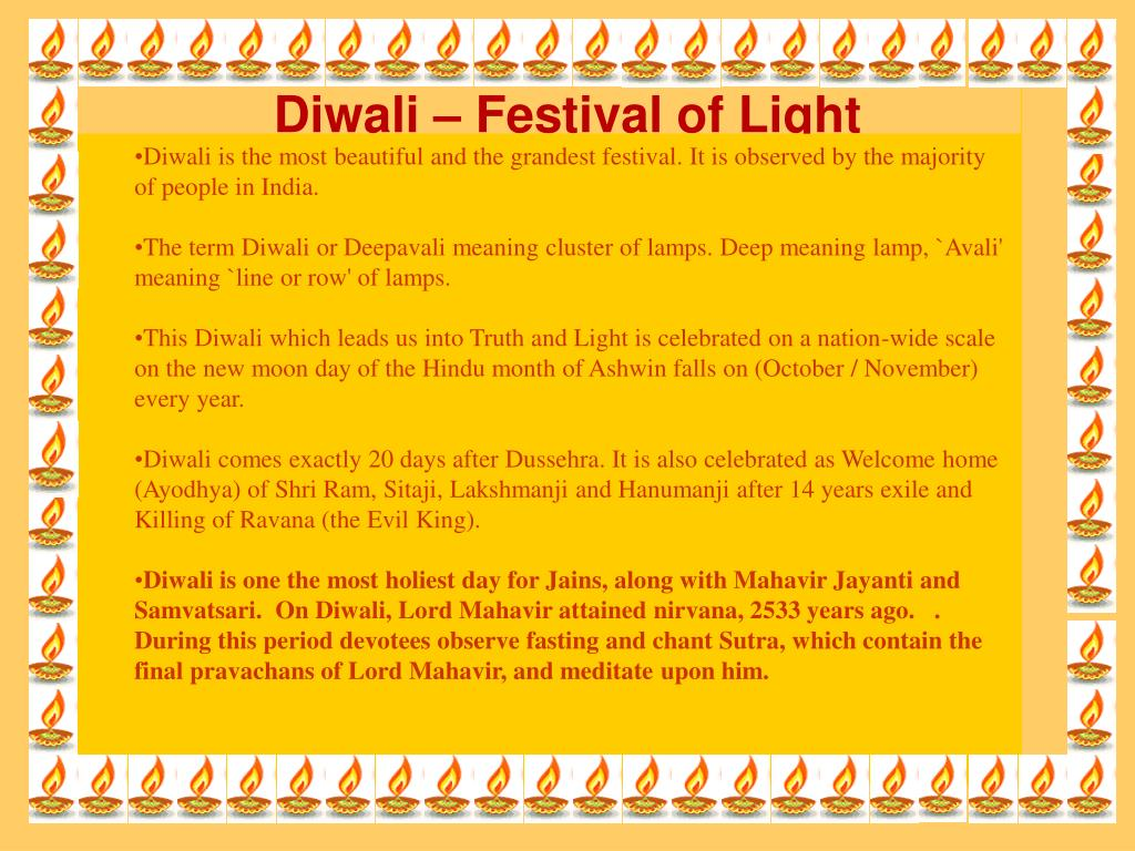 Diwali is the most beautiful and the grandest festival. It is observed by the majority of people in India.