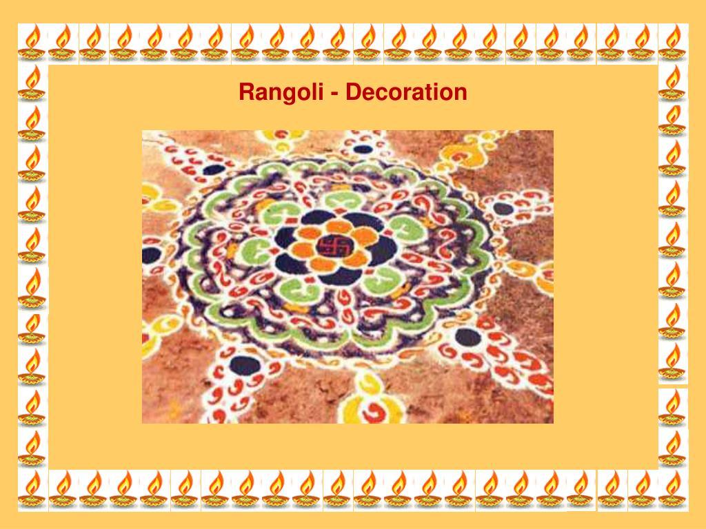 Rangoli - Decoration