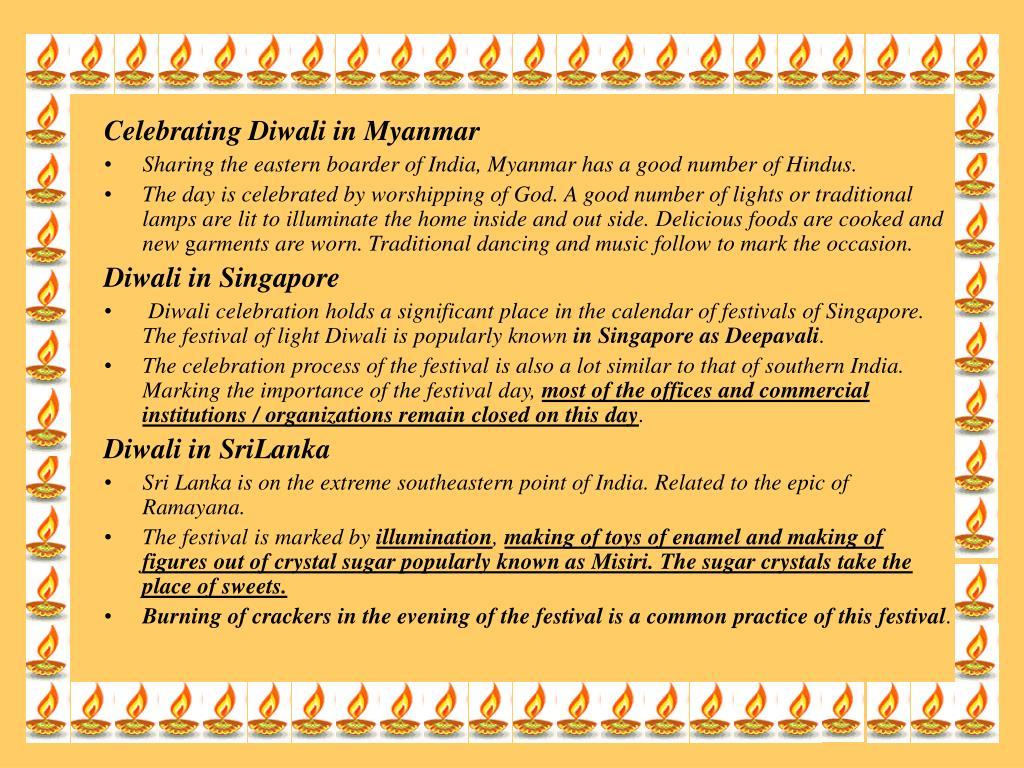 Celebrating Diwali in Myanmar