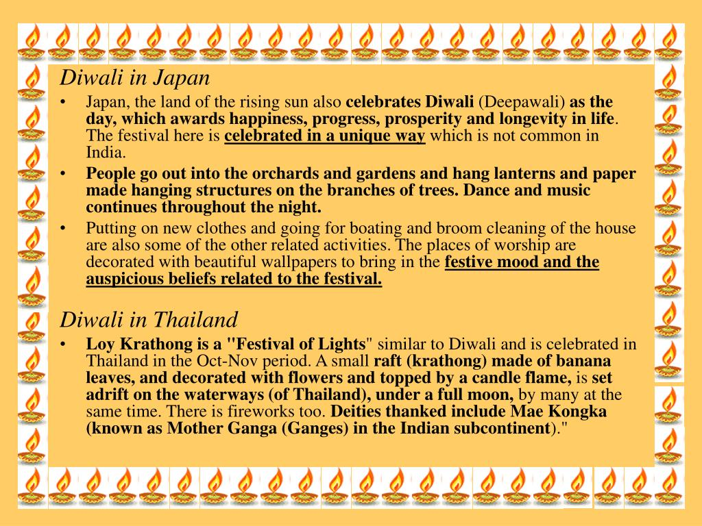 Diwali in Japan
