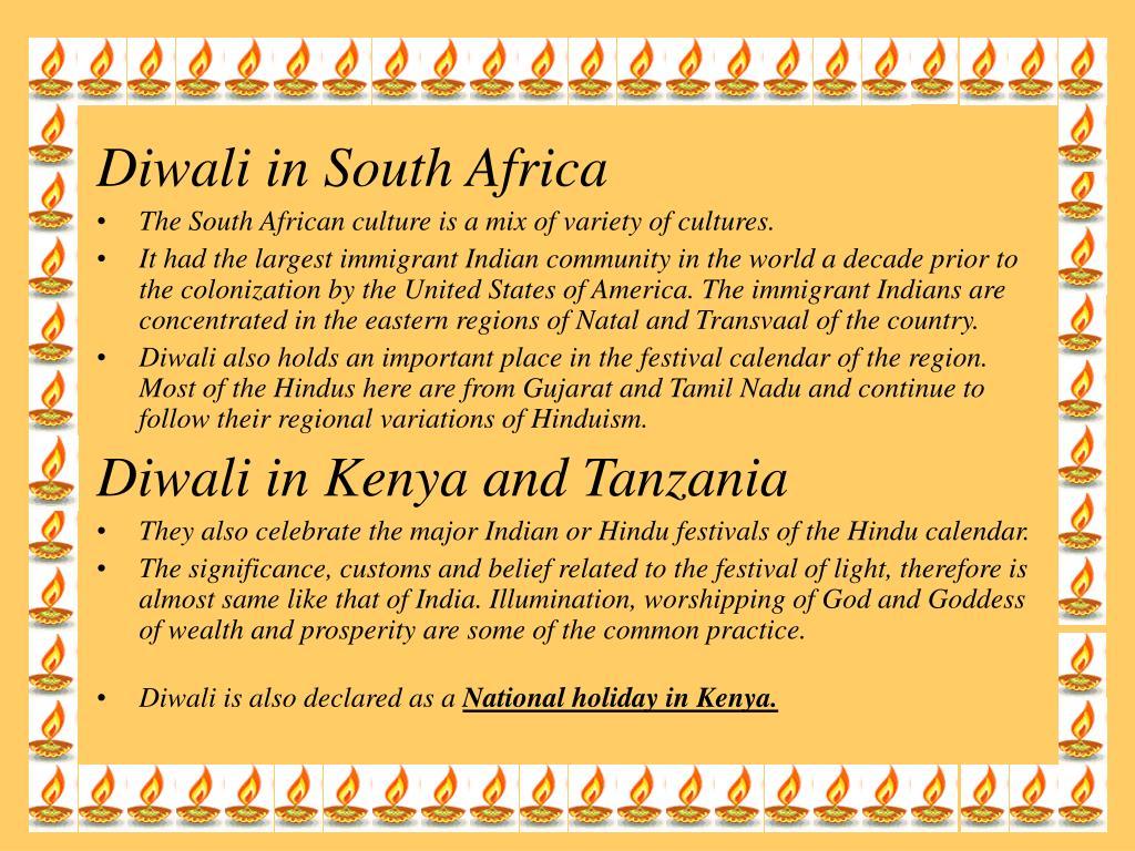 Diwali in South Africa