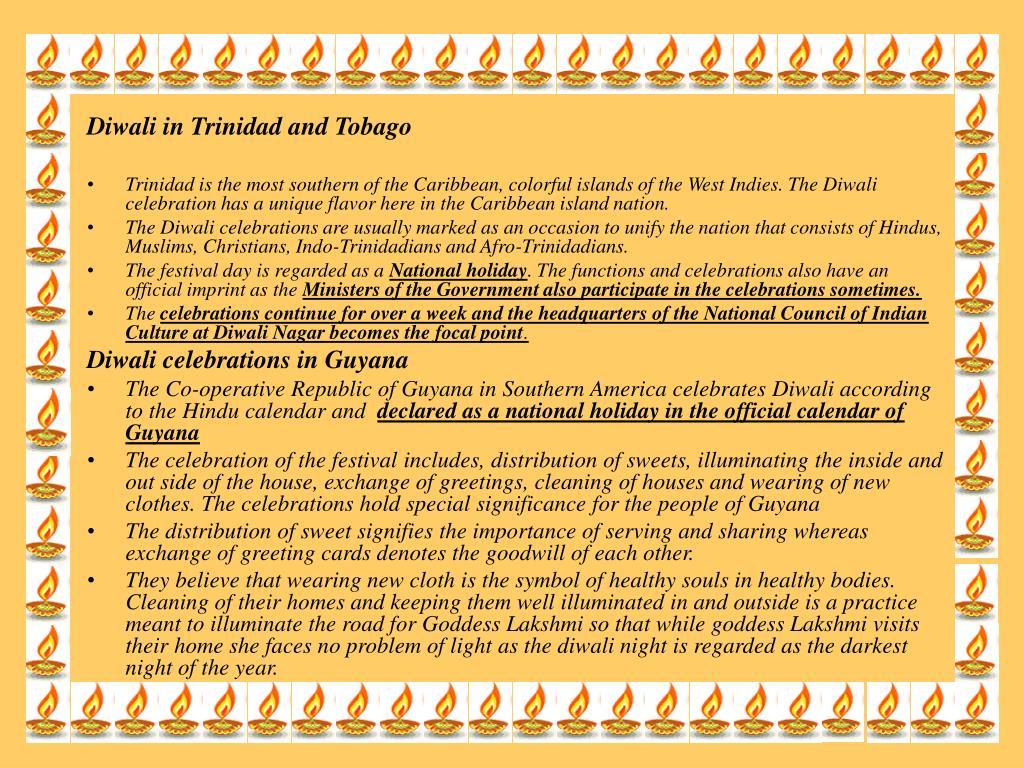 Diwali in Trinidad and Tobago