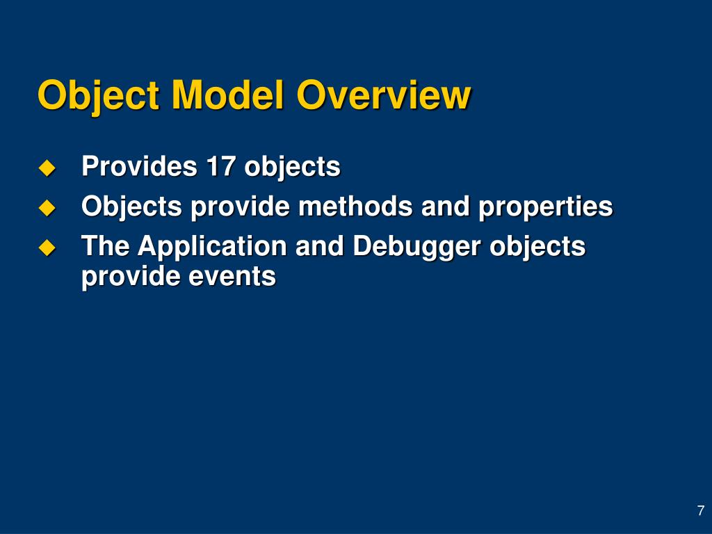 Object Model Overview