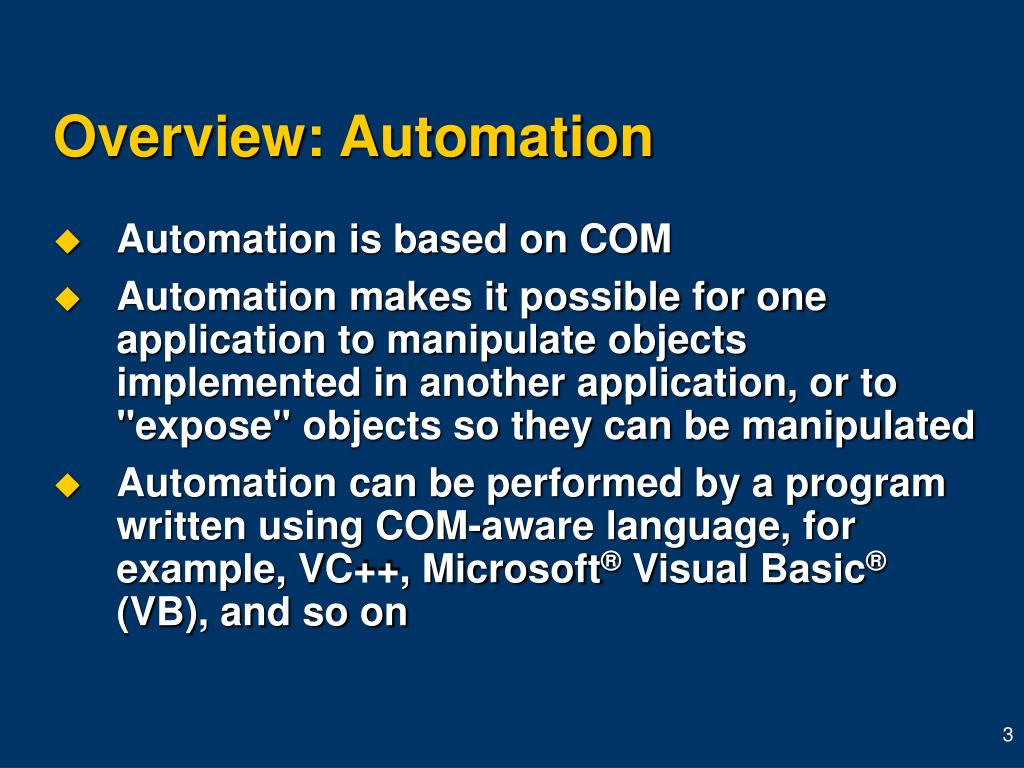 Overview: Automation