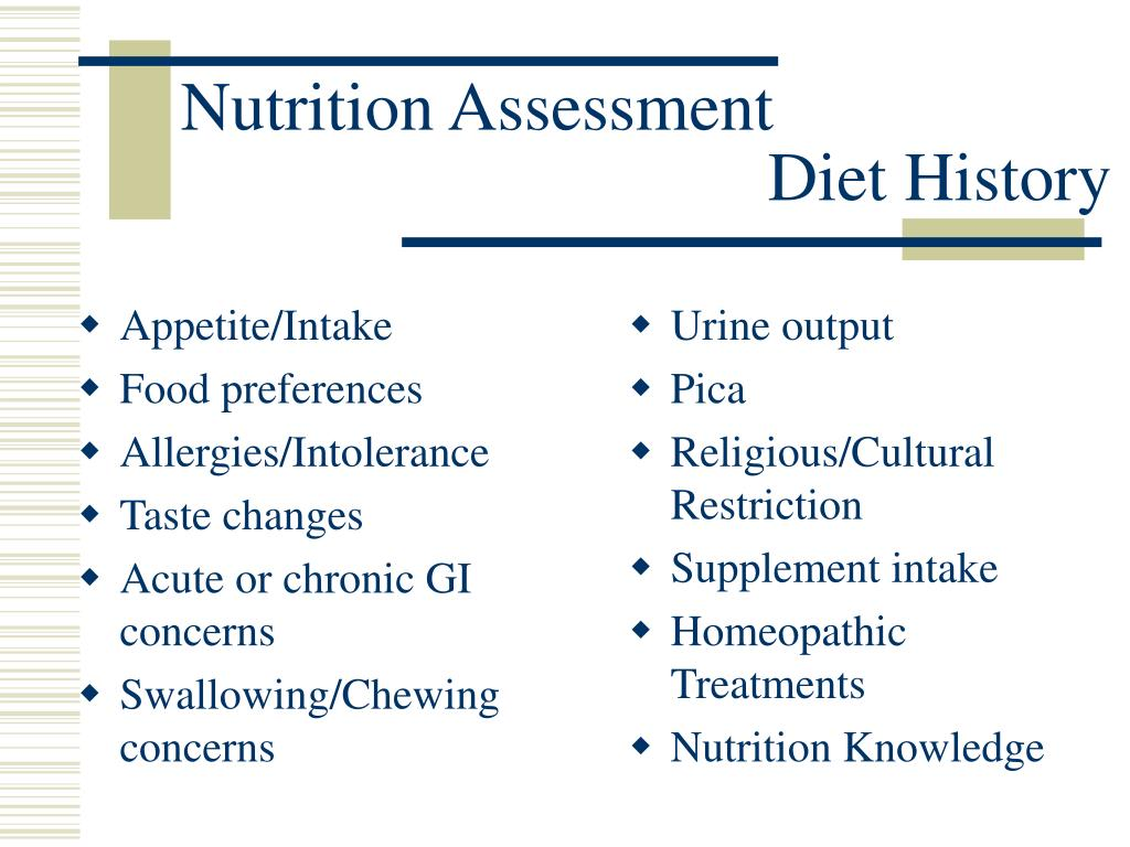 The Dietary History