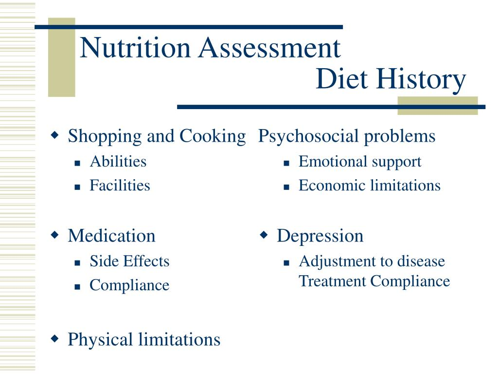 nutritional assessment essay Nutrition assessment project description this assignment involves reviewing a population-based approach to measuring dietary behaviour or physical activity the assessment relates to the following unit objectives: 1.