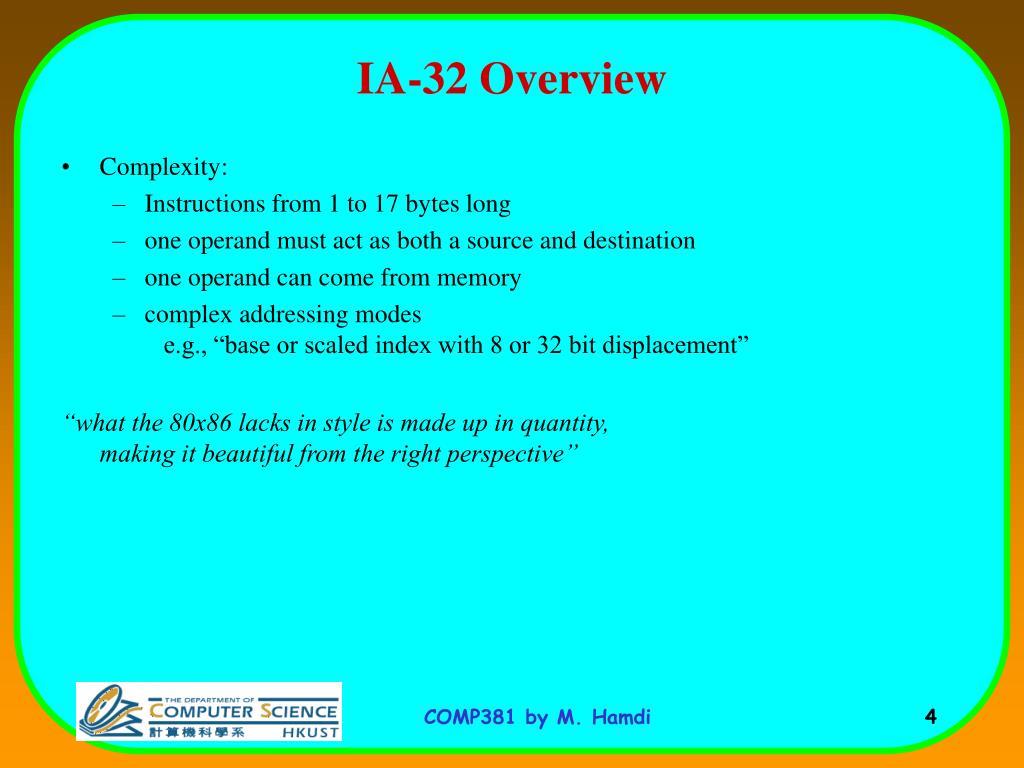 IA-32 Overview