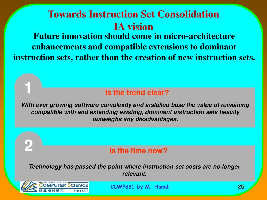 Towards Instruction Set Consolidation