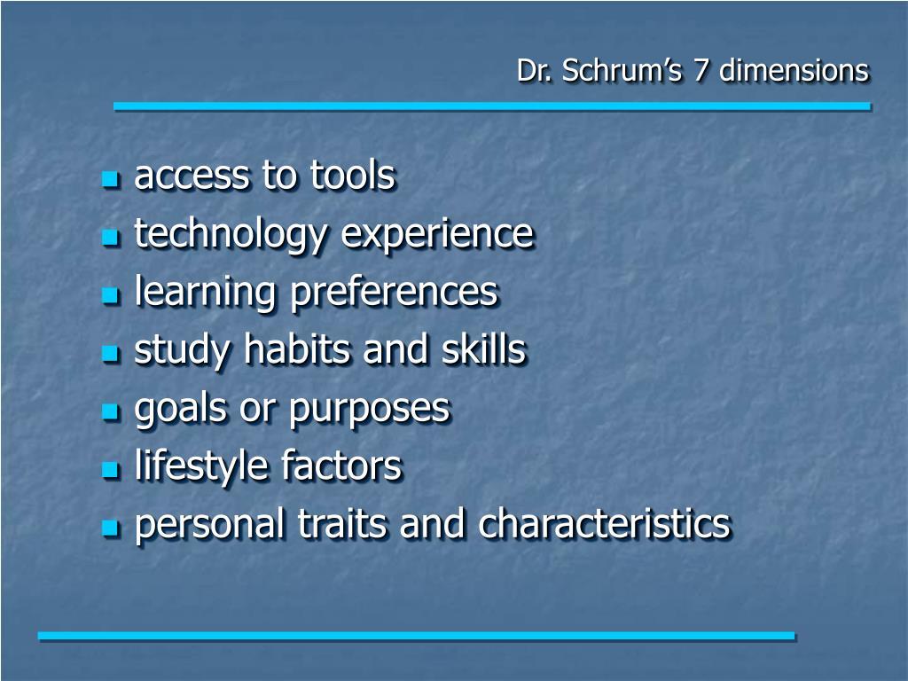 Dr. Schrum's