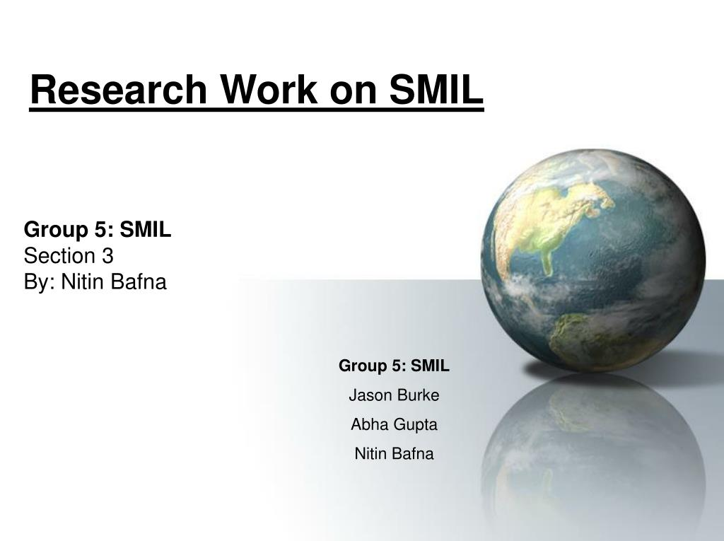 Research Work on SMIL