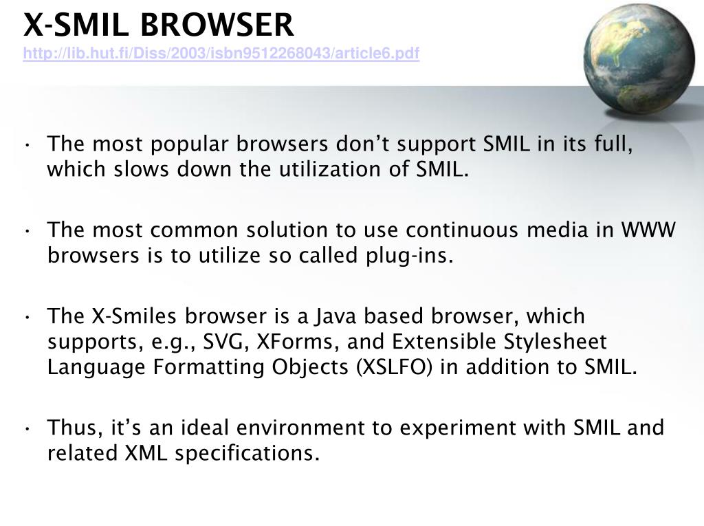X-SMIL BROWSER
