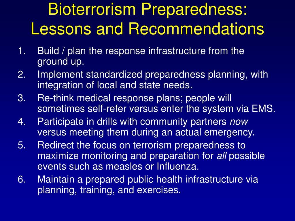 Bioterrorism Preparedness: