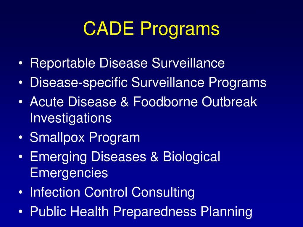 CADE Programs