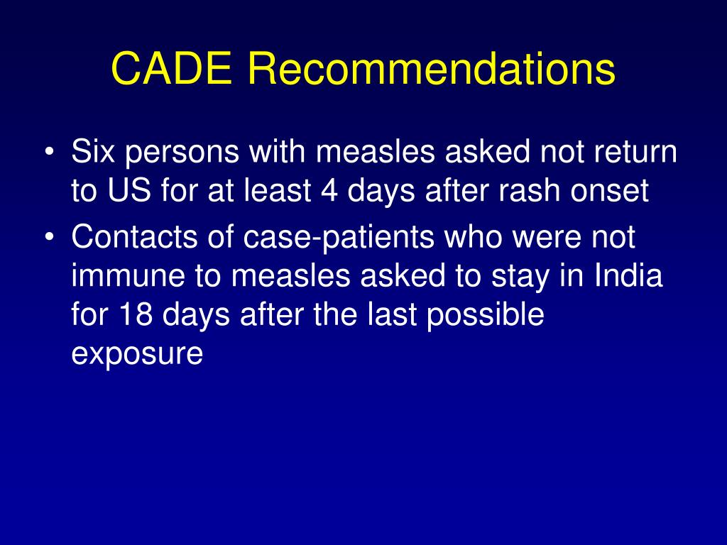 CADE Recommendations