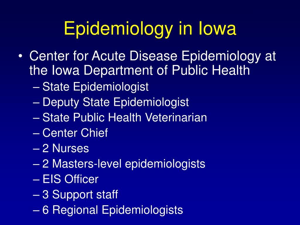 Epidemiology in Iowa