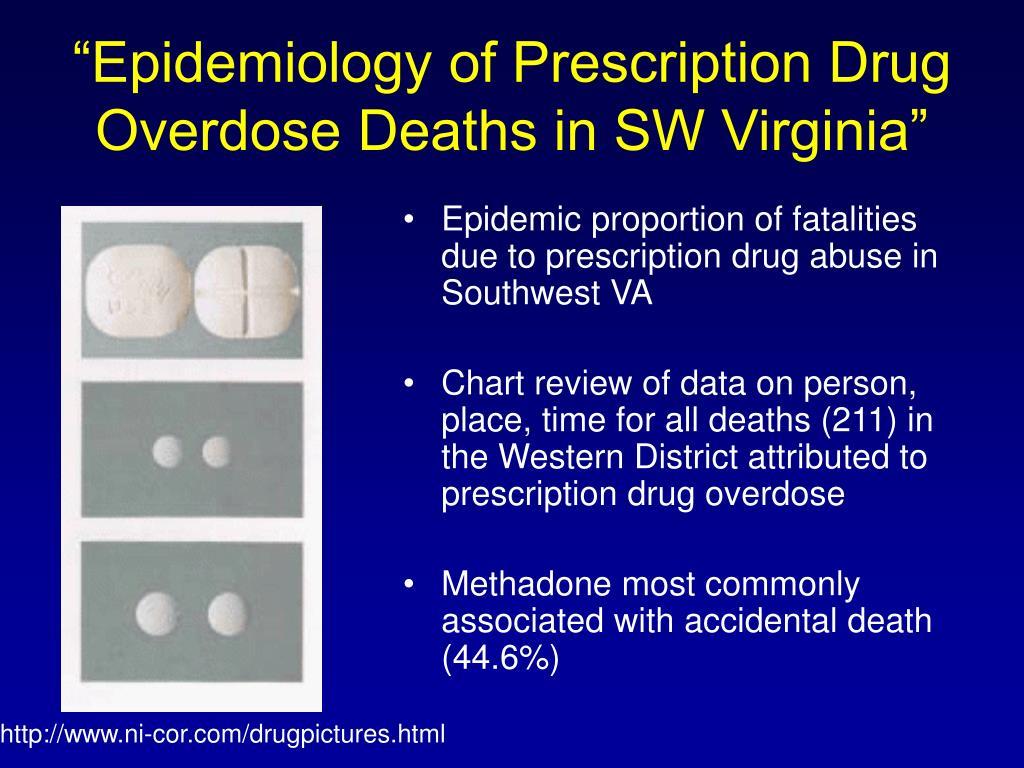 """Epidemiology of Prescription Drug Overdose Deaths in SW Virginia"""
