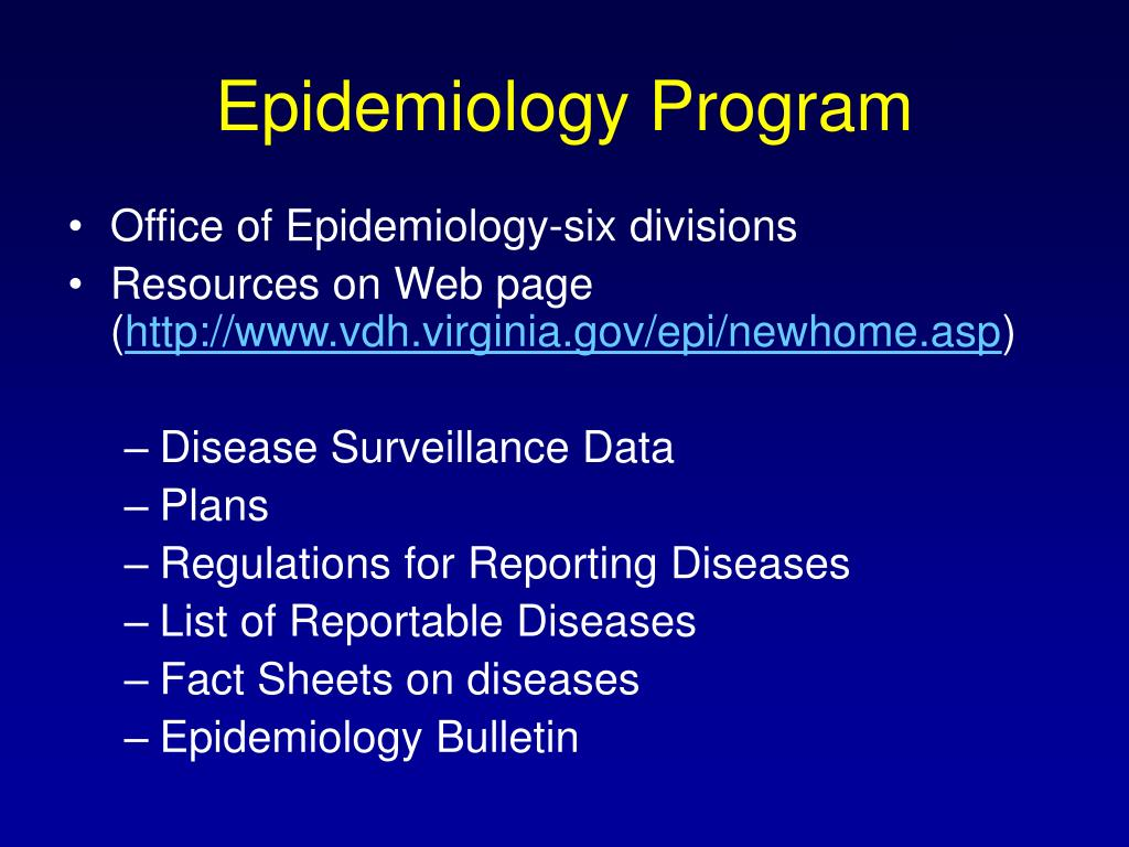 Epidemiology Program