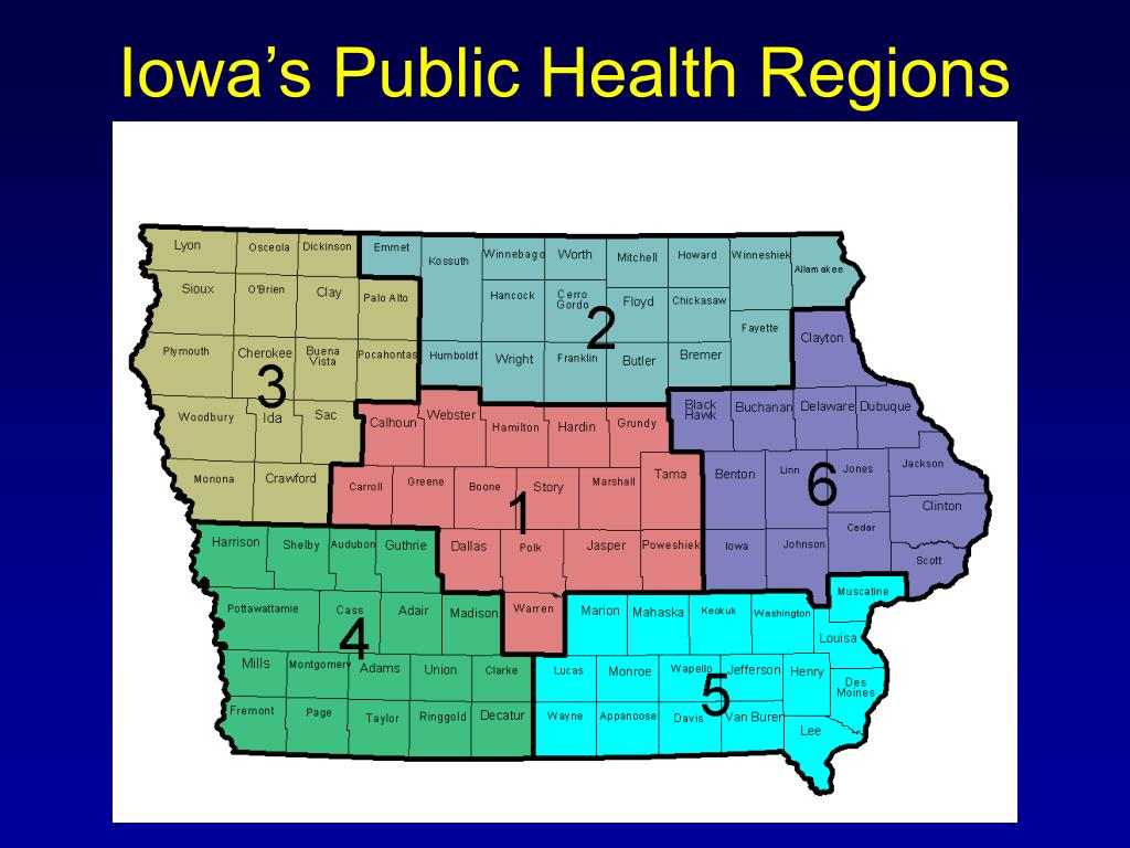 Iowa's Public Health Regions