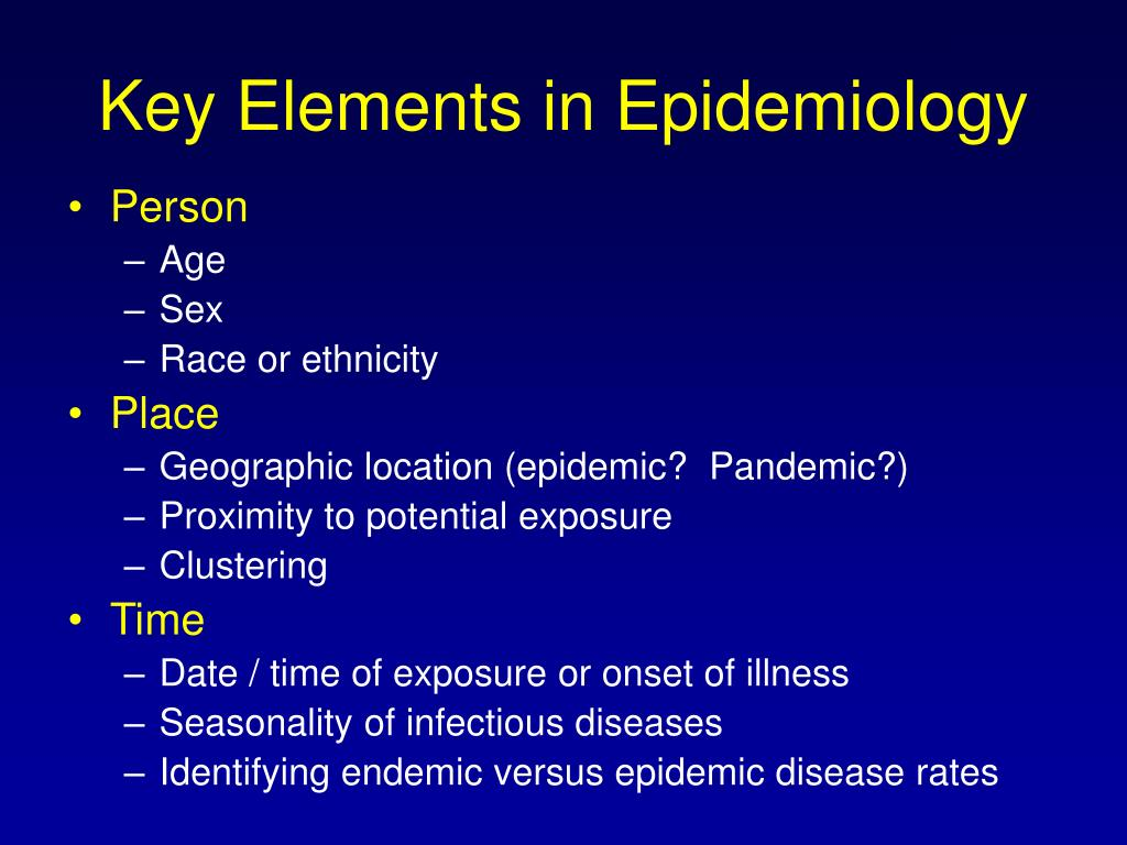 Key Elements in Epidemiology
