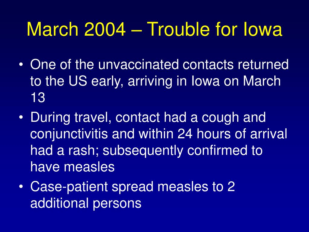 March 2004 – Trouble for Iowa