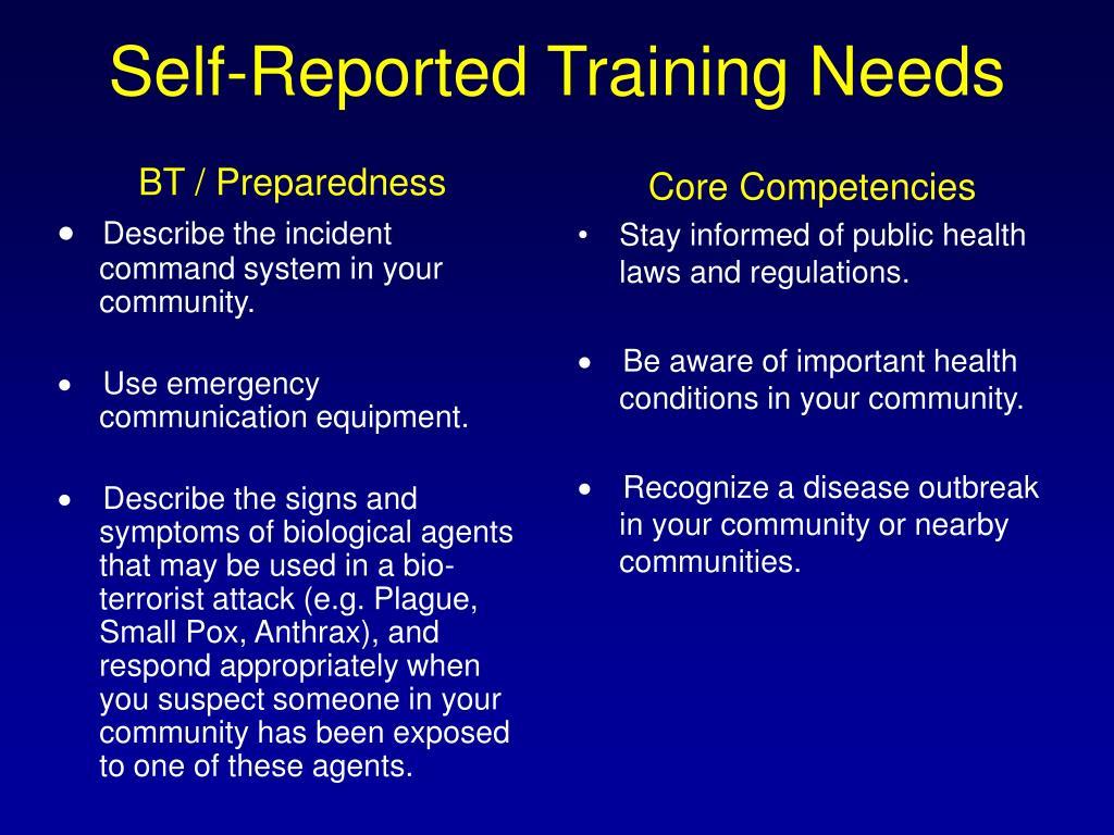 BT / Preparedness
