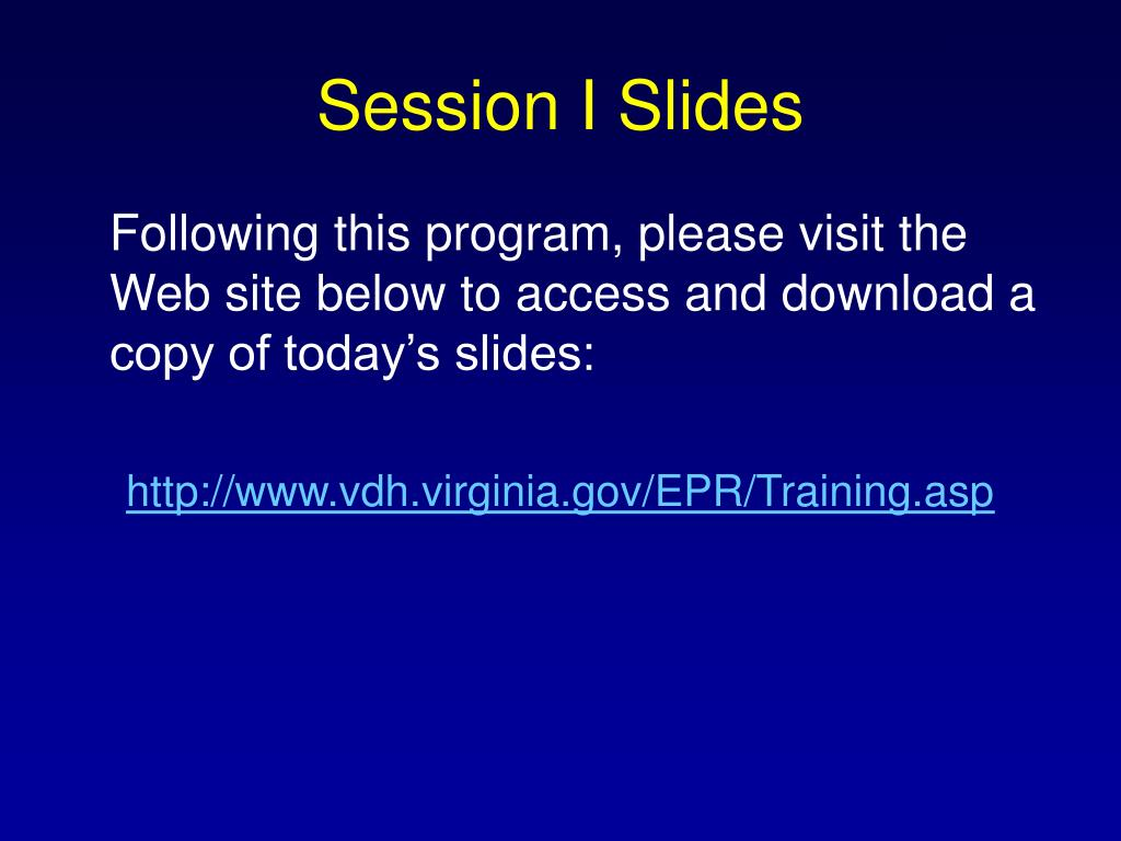 Session I Slides