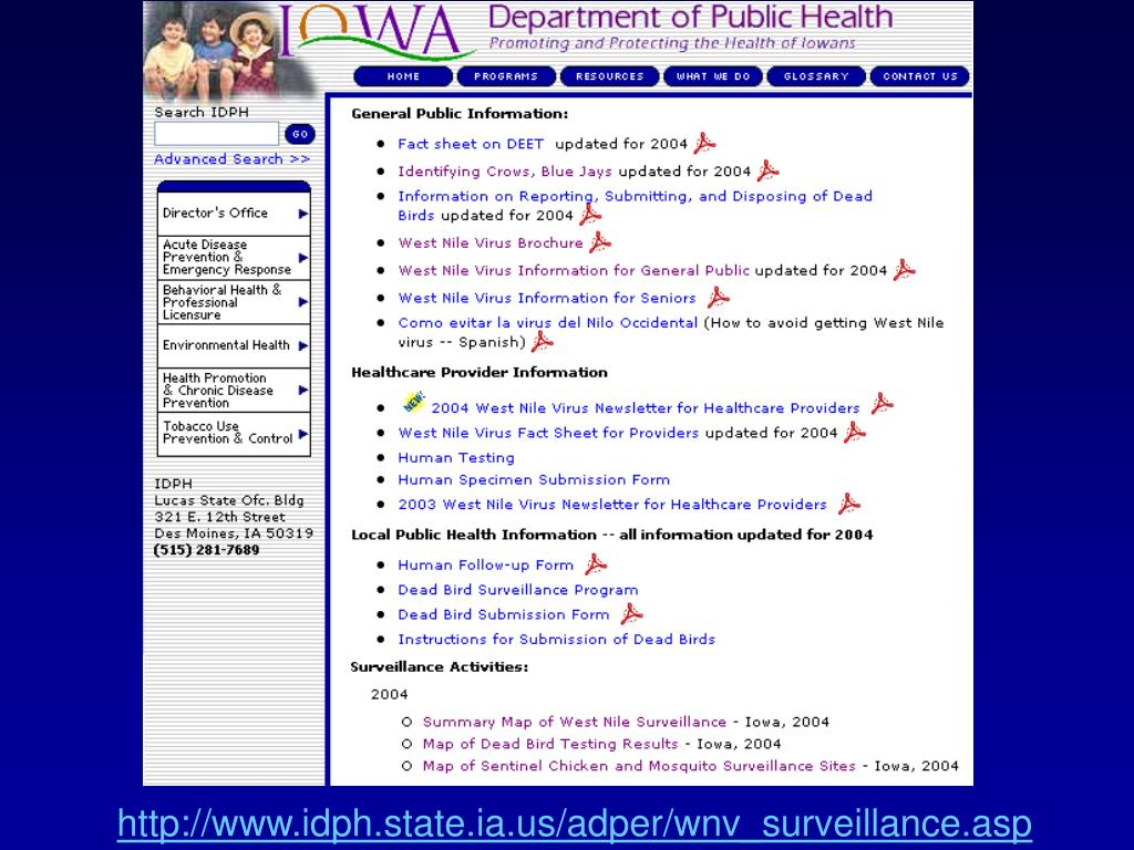 http://www.idph.state.ia.us/adper/wnv_surveillance.asp