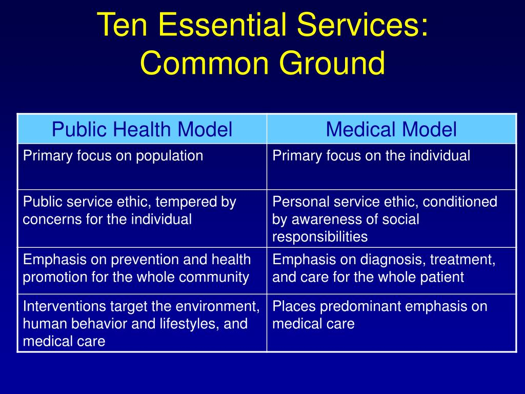 Ten Essential Services: