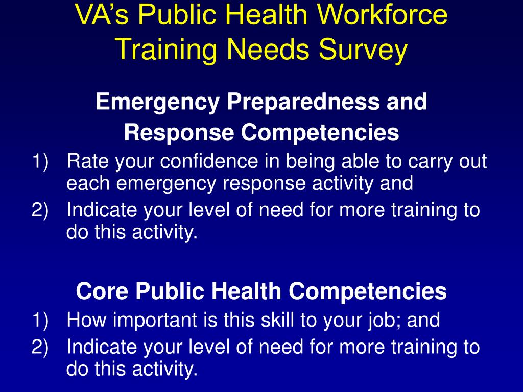 VA's Public Health Workforce
