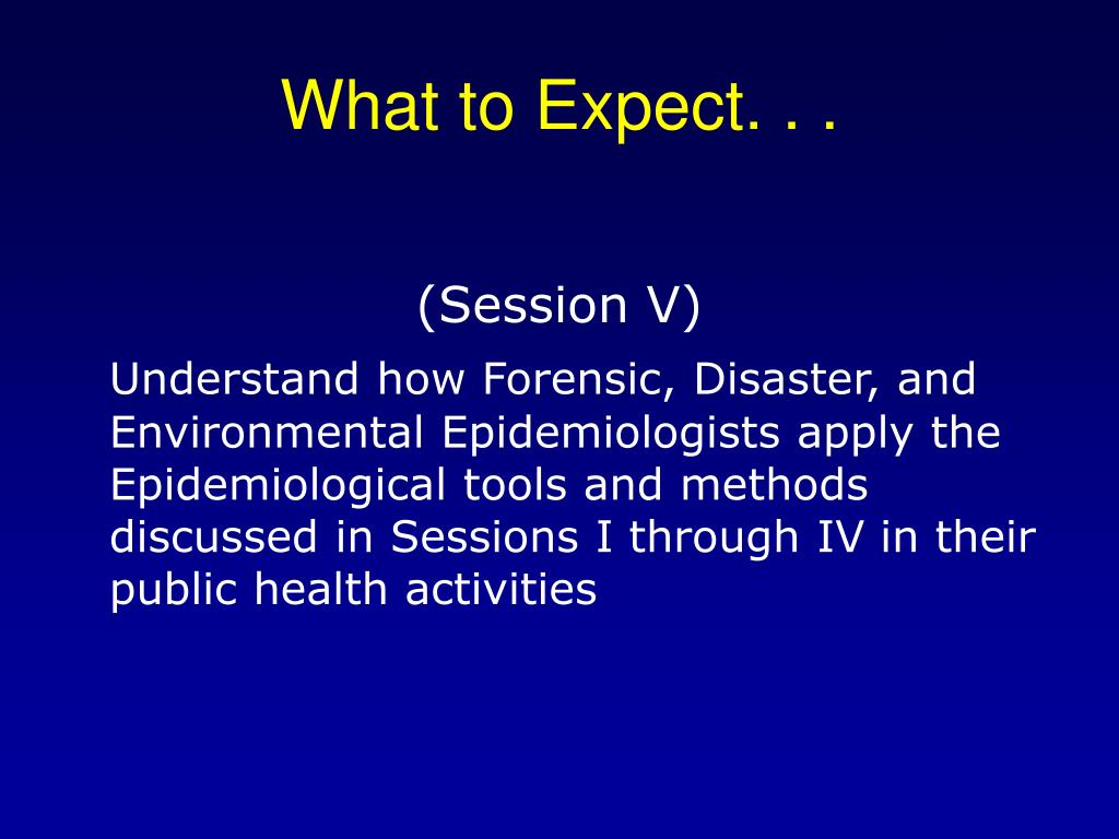 What to Expect. . .