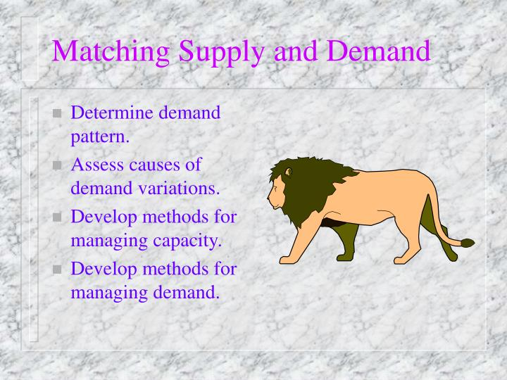 Matching Supply and Demand