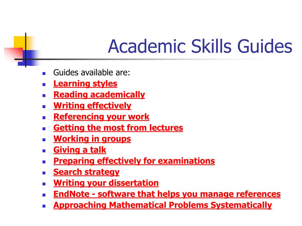 Academic Skills Guides