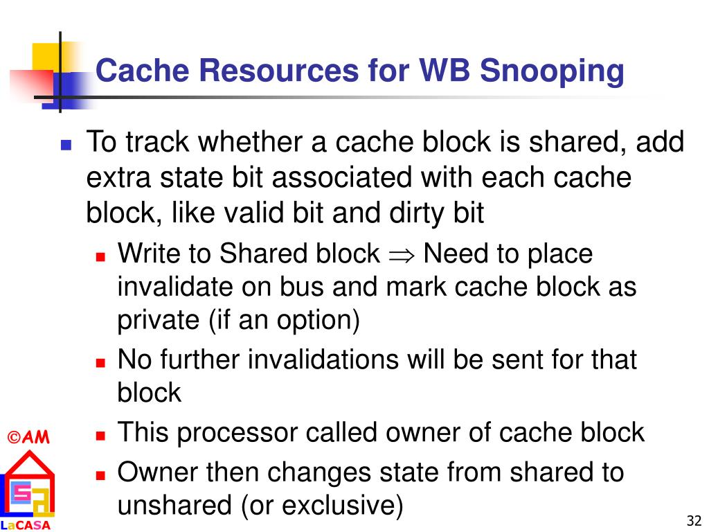 Cache Resources for WB Snooping