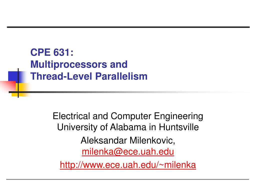 CPE 631: